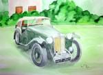 Obras de arte:  : España : Andalucía_Almería : Mojacar : coche antiguo 2