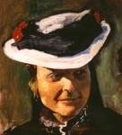 Obras de arte: America : Uruguay : Montevideo : Montevideo_ciudad : Retrato mujer con sombrero