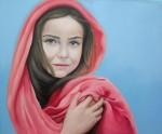 Obras de arte: Europa : España : Comunidad_Valenciana_Alicante : denia : niña velo rosa