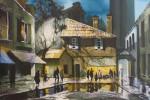 Obras de arte:  : Colombia : Distrito_Capital_de-Bogota : Bogota : Nocturno pueblo