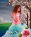 Obras de arte: America : México : Mexico_Distrito-Federal : Coyoacan : Dama de las rosas
