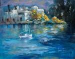 Obras de arte: Europa : Espa�a : Valencia : Xativa : Paisatge i barca