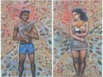 Obras de arte: America : Perú : Lima : la_molina : adan y eva (diptico)