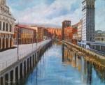 Obras de arte: Europa : España : Euskadi_Bizkaia : Bilbao : DESDE EL PUENTE LA NAJA