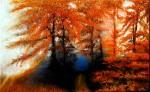 Obras de arte:  : España : Andalucía_Granada : Granada_ciudad : El bosque anaranjado
