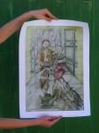 Obras de arte:  : Italia : Veneto :  : Scugnizzi mangiano spaghetti (print)