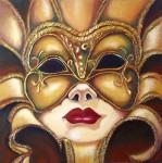 Obras de arte: Europa : España : Catalunya_Tarragona : Valls : Máscara del Carnaval de Venecia - 1