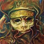 Obras de arte: Europa : España : Catalunya_Tarragona : Valls : Máscara del Carnaval de Venecia - 2