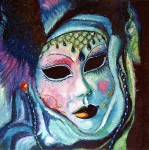 Obras de arte: Europa : España : Catalunya_Tarragona : Valls : Máscara del Carnaval de Venecia - 3