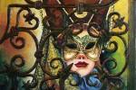 Obras de arte: Europa : Espa�a : Catalunya_Tarragona : Valls : M�scara tras la reja