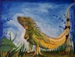 Obras de arte: America : México : Mexico_Distrito-Federal : Coyoacan : Iguana