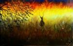 Obras de arte:  : España : Andalucía_Granada : Granada_ciudad : Fuego en la sabana