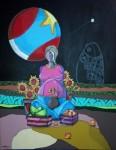 Obras de arte: America : México : Puebla : puebla_ciudad : CUANDO LA LUNA SE PONE REDONDOTA