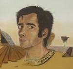 Obras de arte: Europa : España : Islas_Baleares : palma_de_mallorca : Fragmento de autorretrato premonitorio frente al espejo con 28 años.Pintura al natural.