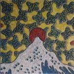 Obras de arte: Europa : España : Catalunya_Barcelona : Barcelona_ciudad : LA GRAN MONTAÑA-OLA. HOMENAJE A KANAGAWA (