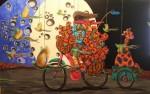 Obras de arte: America : México : Puebla : puebla_ciudad : UNA CURIOSA ESCENA AZUL