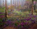Obras de arte: Europa : España : Catalunya_Barcelona : Mataró : bosque con flores lilas