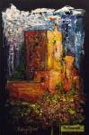 """Obras de arte:  : España : Andalucía_Granada : Granada_ciudad : OBRA: """"LA TORRE DE LA VELA SOBRE BLANCO"""" (Alhambra)"""