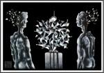 Obras de arte:  : México : Mexico_Distrito-Federal : Coyoacan : Creación de la ilusión de la belleza