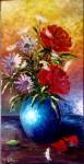 Obras de arte:  : España : Andalucía_Granada : Granada_ciudad : Jarrón de rosas y margaritas