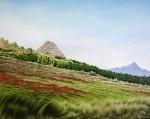 Obras de arte:  : Ecuador : Manabi :  : Choza en el Páramo con Oveja