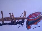 Obras de arte: America : Chile : Region_Metropolitana-Santiago : providencia : bote en el Muelle