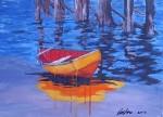 Obras de arte: America : Chile : Region_Metropolitana-Santiago : providencia : Bote a la orilla de palafito