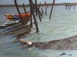 Obras de arte: America : Chile : Region_Metropolitana-Santiago : providencia : pesca en red