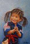 Obras de arte: America : Colombia : Antioquia : Medellin : Niña de Vietnam de la serie rostros del mundo
