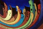 Obras de arte: Europa : España : Catalunya_Tarragona : Valls : Ciudad desperezandose