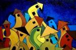 Obras de arte: Europa : Espa�a : Catalunya_Tarragona : Valls : Ciudad de Fantasia