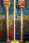 """Obras de arte:  : España : Andalucía_Granada : Granada_ciudad : OBRA: """"DIPTICO: PILARES PARA LA VIDA (I) Y (II)"""""""