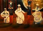 Obras de arte: Europa : Alemania : Nordrhein-Westfalen : Soest : Negritos de cuzco oleo sobre papel A3 Seerie Matices peruanos 2016 oct