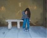 Obras de arte: Europa : España : Castilla_y_León_Burgos : burgos : Niña sentada en banco
