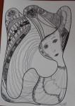 Obras de arte:  : España : Galicia_La_Coruña : Santiago_de_Compostela : Menina flotante