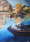 Obras de arte:  : Chile : Region_Metropolitana-Santiago : Peñalolen : Marina de lago