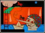 Obras de arte: America : Cuba : Ciudad_de_La_Habana : El_Vedado : Como caballo por su casa
