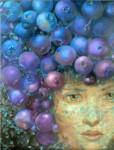 Obras de arte: America : México : Baja_California_Sur : San_Jose_Del_Cabo : Moras azules en la cabeza