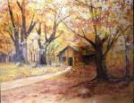 Obras de arte: America : Argentina : Buenos_Aires : san_antonio_de_areco : Cabaña en el bosque.