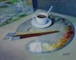 Obras de arte: Europa : España : Catalunya_Girona : olot : El café
