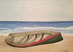 Obras de arte:  : Argentina : Buenos_Aires : san_antonio_de_areco : Bote en la playa
