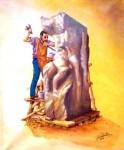 Obras de arte:  : Chile : Maule :  : Escultor en Piedra
