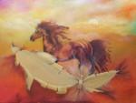 Obras de arte:  : Chile : Maule :  :  caballo Tela Rota