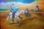 Obras de arte:  : Chile : Maule :  : Quijote y Sancho Panza