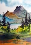 Obras de arte:  : Colombia : Antioquia : Medellin : Lago y montañas