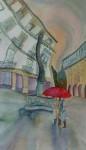Obras de arte:  : España : Galicia_Pontevedra : Redondela : Chove en Santiago