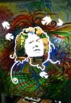 Obras de arte: America : Honduras : Francisco Morazan : Tegucigalpa : berta caceres en metal y bandas reflectivas