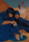 Obras de arte:  : España : Catalunya_Barcelona : Martorell : blue men, oil on canvas 116x89 cms