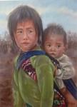 Obras de arte: America : Colombia : Antioquia : Medellin : De la Serie Niñas Madre