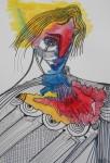 Obras de arte:  : España : Galicia_La_Coruña : Santiago_de_Compostela : 2018..Mujer